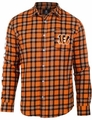 Cincinnati Bengals Wordmark Mens Long Sleeve Flannel Shirt