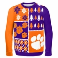 Clemson Ugly College Sweater BusyBlock
