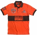 Cleveland Browns NFL Cotton Wordmark Rugby Short Sleeve Polo Shirt