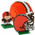 Cleveland Browns NFL 3D BRXLZ Puzzle Set By Forever Collectibles