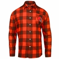 Cleveland Browns NFL Checkered Men's Long Sleeve Flannel Shirt