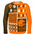 Cleveland Browns NFL Ugly Sweater Busy Block MEDIUM