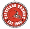 Cleveland Browns NFL Wall Decor Bottlecap Collection by Forever Collectibles