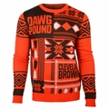 Cleveland Browns Patches NFL Ugly Sweater by Klew