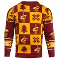 Cleveland Cavaliers 2016 Patches NBA Ugly Crew Neck Sweater by Forever Collectibles