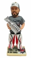 Corey Crawford (Chicago Blackhawks) Real Fabric Champ T-Shirt/Champ Hat Newspaper Base 2015 Stanley Cup Champions Exclusive BobbleHead #/500