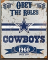 Dallas Cowboys Embossed Metal Sign