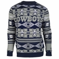 Dallas Cowboys NFL Aztec Print Ugly Crew Neck Sweater