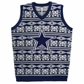 Dallas Cowboys NFL Aztec Print Ugly Sweater Vest