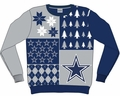 Dallas Cowboys NFL Ugly Sweater Busy Block