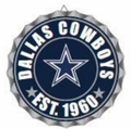 Dallas Cowboys NFL Wall Decor Bottlecap Collection by Forever Collectibles