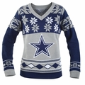 Dallas Cowboys (Women's V-Neck) NFL Ugly Sweater