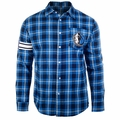 Dallas Mavericks NBA Wordmark Flannel Long Sleeve Shirt