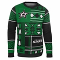 Dallas Stars NHL Patches Ugly Sweater by Klew