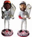 David Ortiz/Dustin Pedroia (Boston Red Sox) 2013 World Series Champ CLARKtoys.com Exclusive Trophy Bobble Head Forever #/300