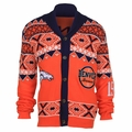 Denver Broncos NFL Ugly Sweater Cardigan