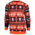 Denver Broncos Aztec NFL Ugly Crew Neck Sweater
