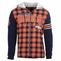 Denver Broncos NFL Flannel Hooded Jacket by Klew