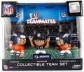 Denver Broncos Lil Teammates NFL 3-Pack (QB, RB, REF) Collectible Team Set