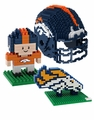 Denver Broncos NFL 3D  BRXLZ Puzzle Set By Forever Collectibles