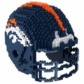 Denver Broncos NFL 3D Helmet BRXLZ Puzzle By Forever Collectibles