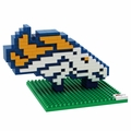 Denver Broncos NFL 3D Logo BRXLZ Puzzle By Forever Collectibles