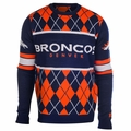 Denver Broncos NFL Argyle Sweater CLARKtoys Exclusive