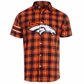 Denver Broncos NFL Colorblock Short Sleeve Flannel
