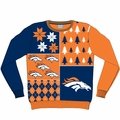 Denver Broncos NFL Ugly Sweater Busy Block