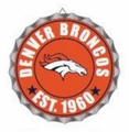 Denver Broncos NFL Wall Decor Bottlecap Collection by Forever Collectibles