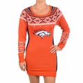 Denver Broncos NFL Women's Big Logo Sweater Dress