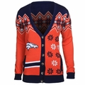 Denver Broncos NFL Women's Cardigan Ugly Sweater