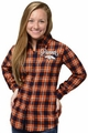 Denver Broncos NFL Women's Wordmark Long Sleeve Flannel Shirt