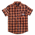 Denver Broncos Wordmark Short Sleeve Flannel Shirt by Klew