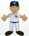 "Derek Jeter (New York Yankees-Home Pinstripes) Commemorative Retirement Edition 10"" Player Plush Bleacher Creatures"