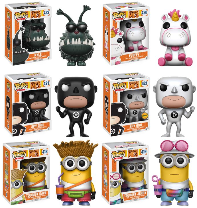 Despicable Me 3 Complete Set 6 W Chase Funko Pop