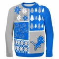Detroit Lions NFL Ugly Sweater Busy Block