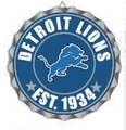 Detroit Lions NFL Wall Decor Bottlecap Collection by Forever Collectibles
