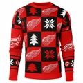 Detroit Red Wings 2016 Patches NHL Ugly Crew Neck Sweater by Forever Collectibles