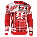 Detroit Red Wings NHL Patches Ugly Sweater by Klew