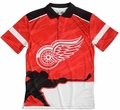 Detroit Red Wings NHL Polyester Short Sleeve Thematic Polo Shirt