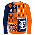 Detroit Tigers MLB Ugly Sweater BusyBlock