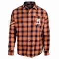 Detroit Tigers Wordmark Mens Long Sleeve Flannel Shirt