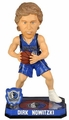 Dirk Nowitzki (Dallas Mavericks) Forever Collectibles 2014 NBA Springy Logo Base Bobblehead