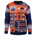 Edmonton Oilers NHL Patches Ugly Sweater by Klew