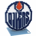 Edmonton Oilers NHL 3D Logo BRXLZ Puzzle By Forever Collectibles