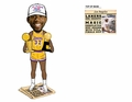 "Ervin ""Magic"" Johnson (Los Angeles Lakers) Finals MVP/Champ Trophy Newspaper Base NBA Legends Bobble Head"