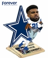 Ezekiel Elliott (Dallas Cowboys) How 'Bout Them Cowboys Newspaper Base NFL Bobble Head