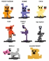 Five Nights at Freddy's 8-Bit Buildable Figures Series 1 Set (8)