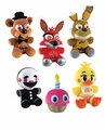 "Five Nights at Freddy's Funko 6"" Plush Complete Set (6) Wave 2"